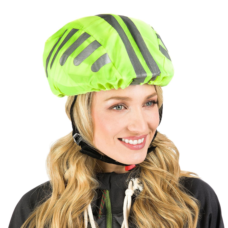 Haute Qualité Casque Casque de vélo Housse pour les–Rond avec Protect icuremd 360°-pour réflecteurs–Vélo étanche Housse–Unisexe Casque pluie Casque Protection réfléchissant Protecticure