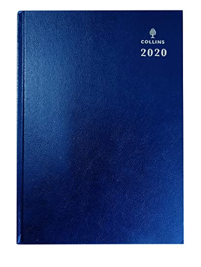 Collins Desk 2020 - Agenda (A4, día por página), color azul
