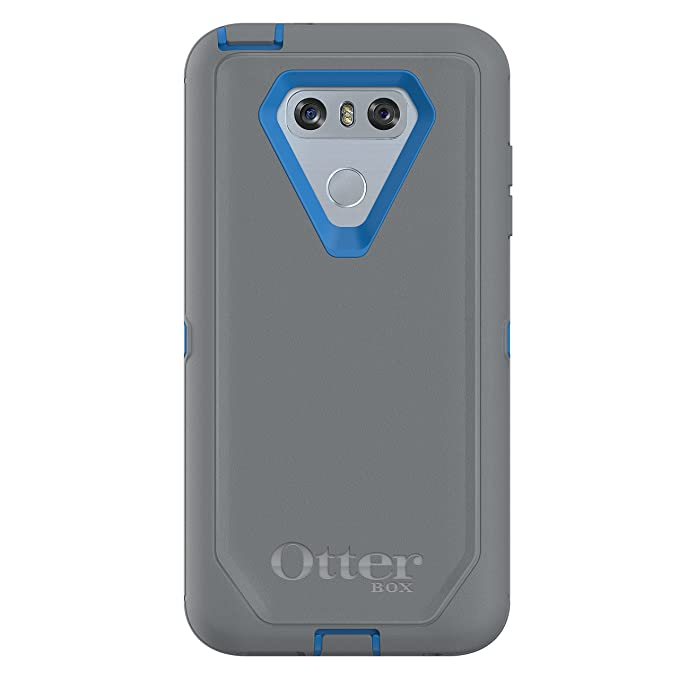 super cheap 9682a a0e6c OtterBox Defender Series Case for LG G6 - Frustration Free Packaging -  Marathoner (Cowabunga Blue/Gunmetal Grey)