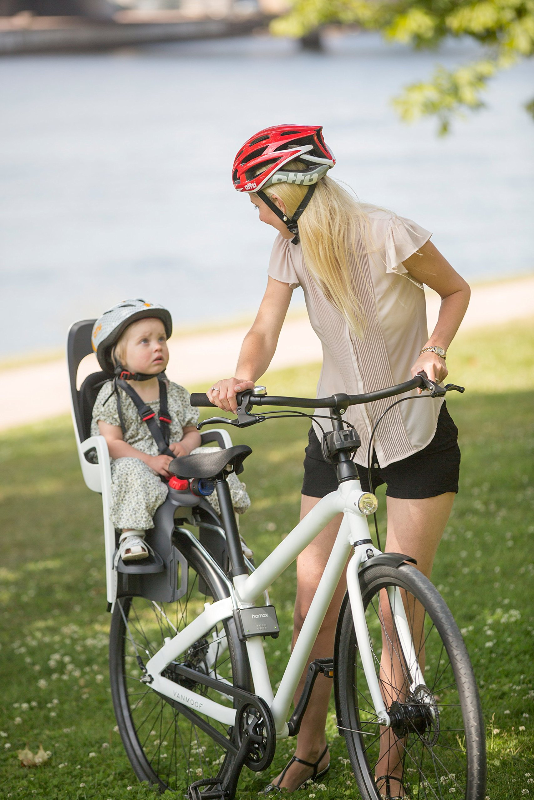 Hamax Caress Rear Child Bike Seat (Grey/White, Frame Mount) by Hamax (Image #5)
