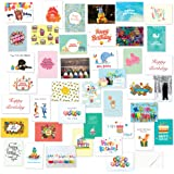 40 Birthday Cards Assortment – Happy Birthday Card Bulk Box Card Sets for Women and Men, Children and Adults - Blank Cards with Envelopes