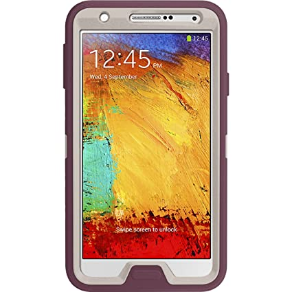 pretty nice 3265c 99c01 OtterBox Defender Series Case for Samsung Galaxy Note 3 - Retail Packaging  - White/Purple (Discontinued by Manufacturer)