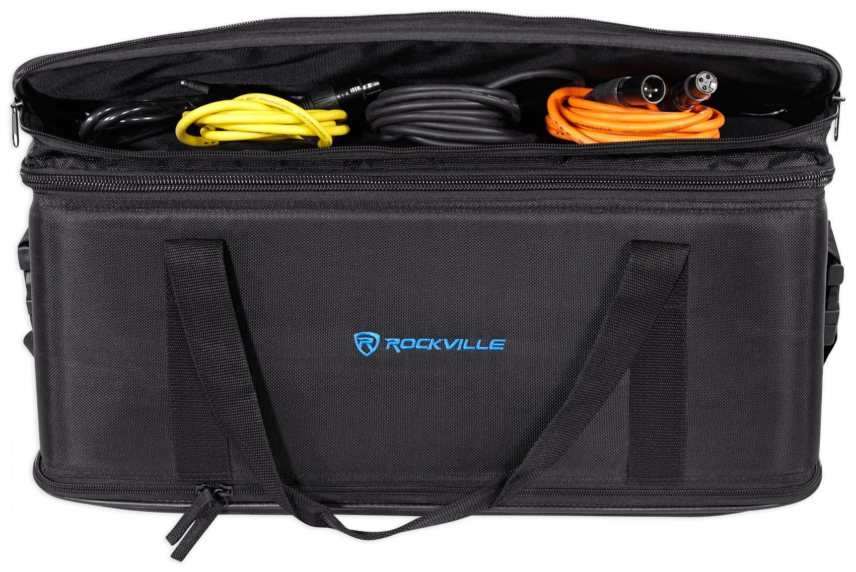 Rockville 3U Rack Bag Double-Sided Case with 12'' Depth + Shoulder Strap (RRB30) by Rockville (Image #7)