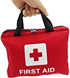 107 Basics Pcs Professional First Aid Kit includes Emergency Foil Blanket, Cold Pack, CPR Face Mask for Home,Vehicle,Travel,Office,Workplace,Child Care, Hiking,Survival & Outdoor