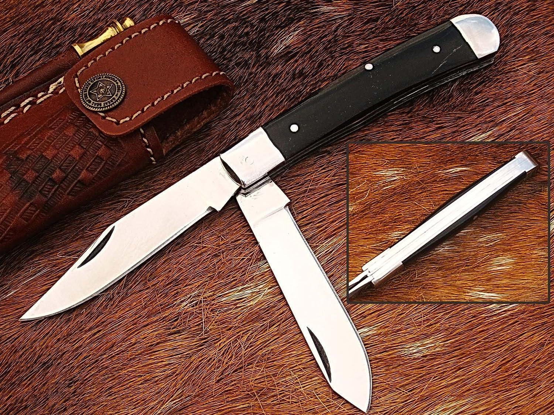 Hecho a mano 18 cm Trapper doble cuchillas cuchillo de ...