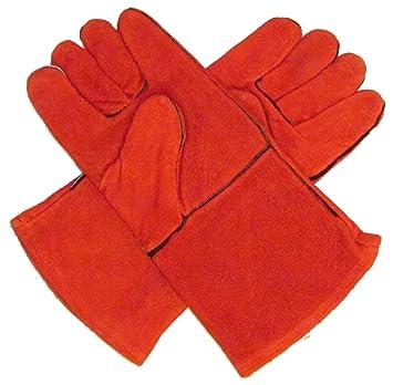 Portwest A500RERXL - Guantes para soldador (tamaño grande), color rojo: Amazon.es: Coche y moto