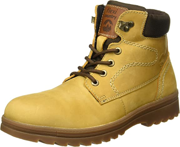 Flexi Bogota 50701 Botas para Hombre, Amarillo (Trigo), 25 EEE Mexico: Amazon.com.mx: Ropa, Zapatos y Accesorios