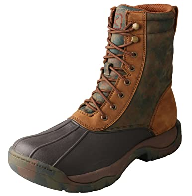 Men's Waterproof Lace-Up Camo Rubber Boot Round Toe - Mglw001
