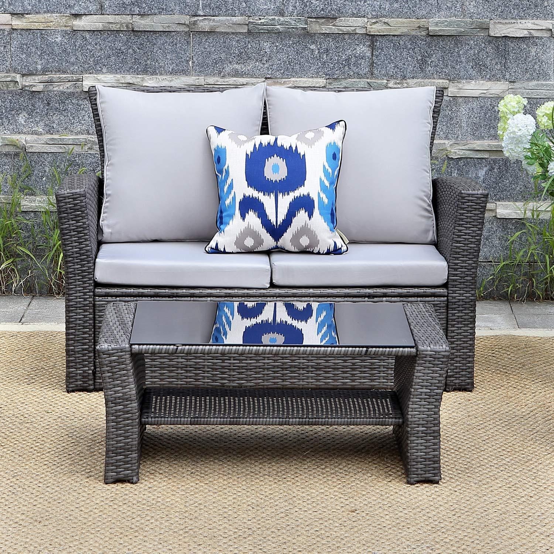 Amazon.com: Wisteria Lane - Juego de muebles de jardín de 5 ...