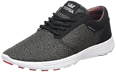 1e01343342c Supra Hammer Run Shoes (Charcoal Heather Red Black-White) Men s Sneakers