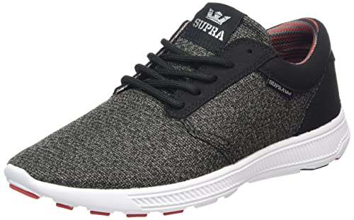 Supra Hammer Run, Sneakers Basses Mixte Adulte, Gris (Charcoal Heather/Red/BLK-White CHR), 36