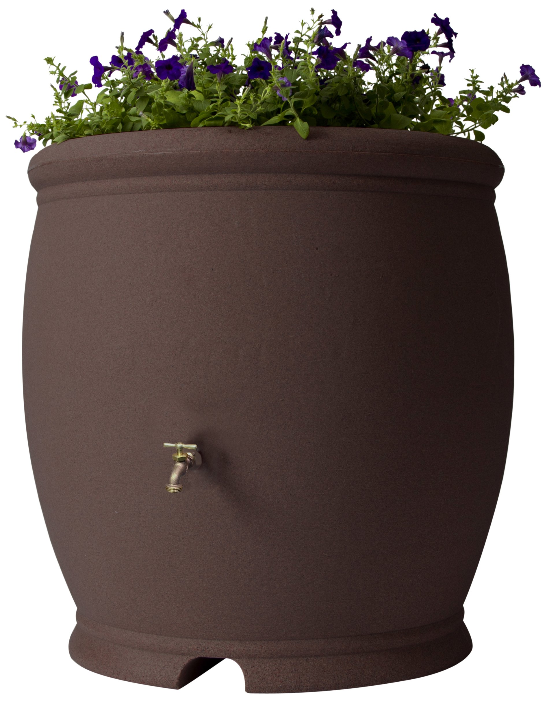 Algreen Products Barcelona Rain Barrel 100-Gallon, Brownstone by Algreen