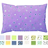 """TODDLER PILLOWCASE (14"""" x 19"""") - 100% Cotton - 200 Thread Count Percale - Envelope Style - PREMIUM PRODUCT Made in Virginia (Daisies)"""