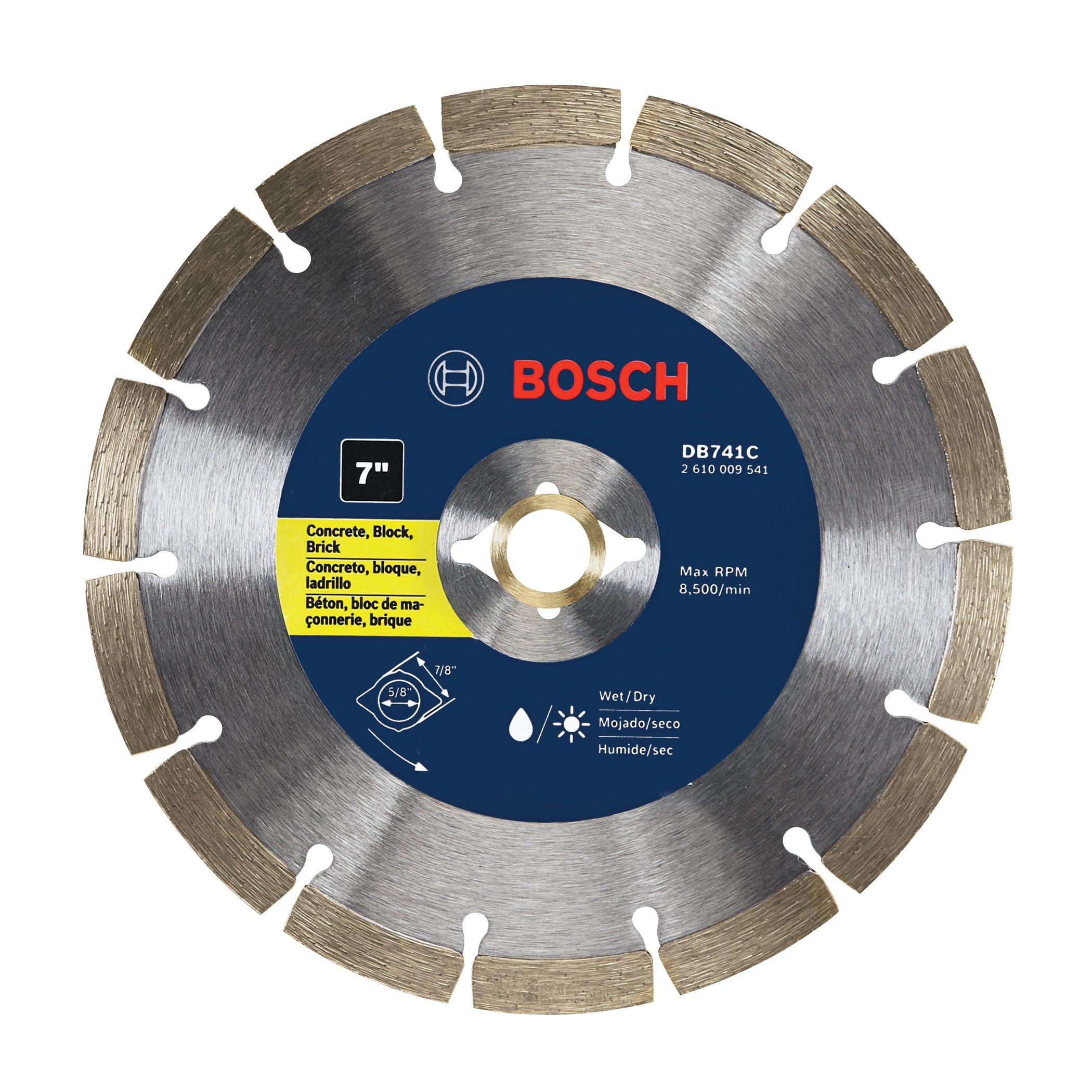 Disco de Diamante BOSCH DB741C segmentado premium de 7 pulg.