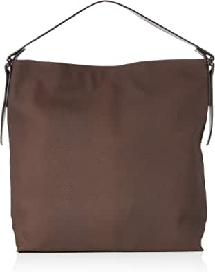 Esprit Tasha_hobo - Bolso bandolera, color Marrón, talla 12x36x34 cm (B x H x T)