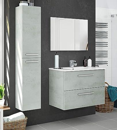 Pack de mobiliario para baño de estilo moderno, diseñado siguiendo la tendencia industrial, que incl