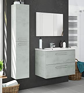 Miroytengo Pack Muebles baño Plutón diseño Moderno (Mueble Baño +Espejo+Columna+Lavabo