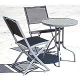 set bistrot - tavolino + 2 sedie