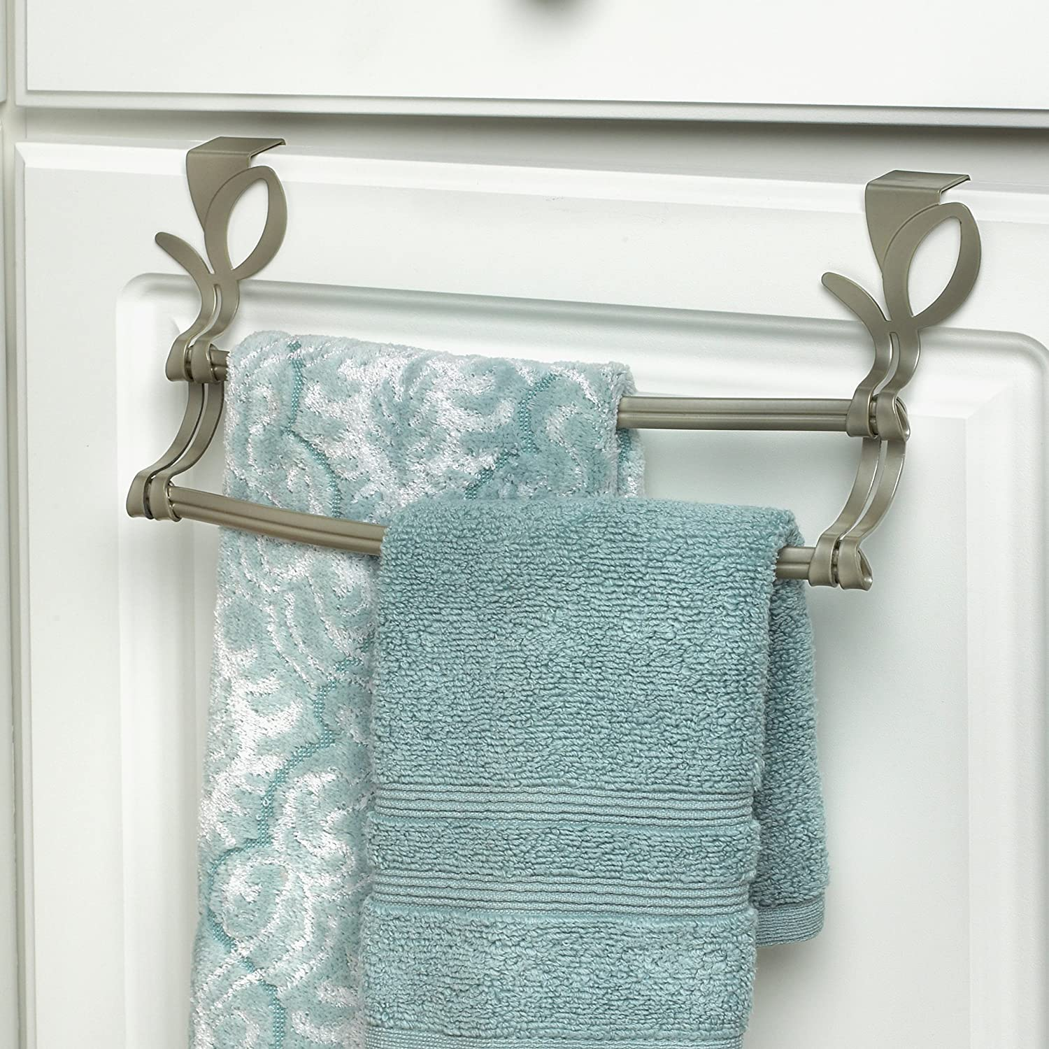 Amazon.com: Spectrum Diversified Leaf Double Towel Bar, Over the ...