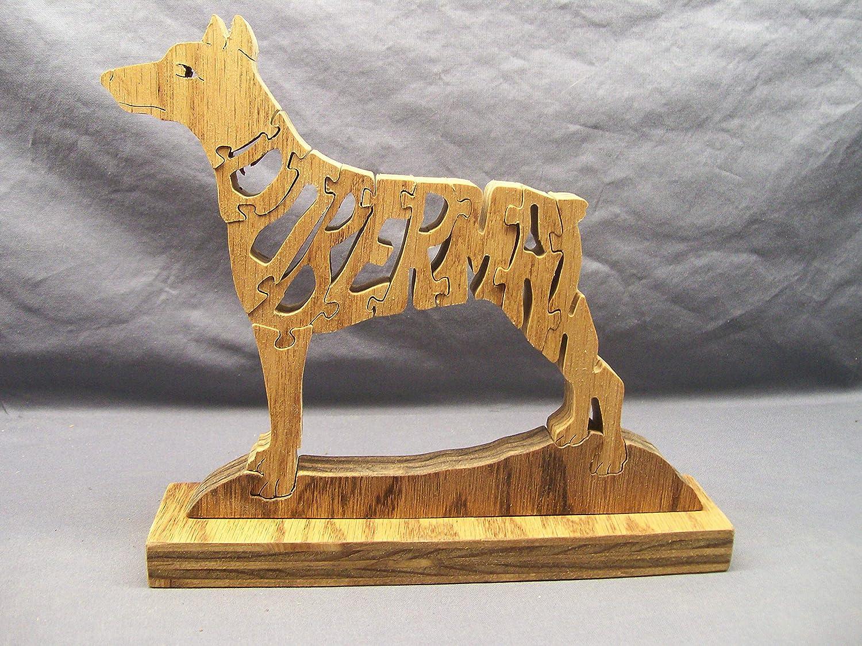 Handmade Wooden Woodimal Doberman Dog Puzzle