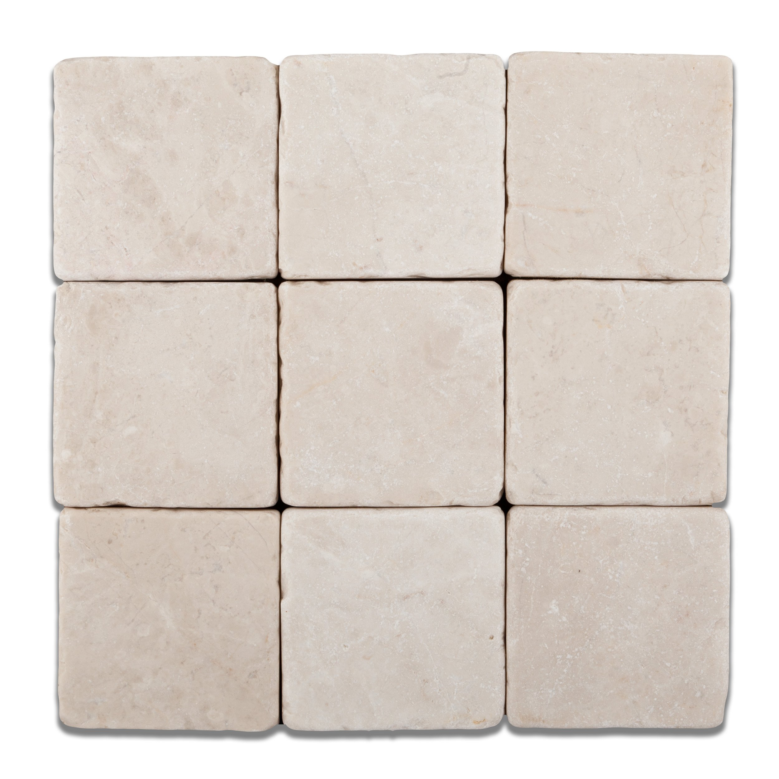 Turkish Crema Marfil Marble 4 X 4 Tumbled Field Tile - Box of 5 sq. ft. by Oracle Tile & Stone