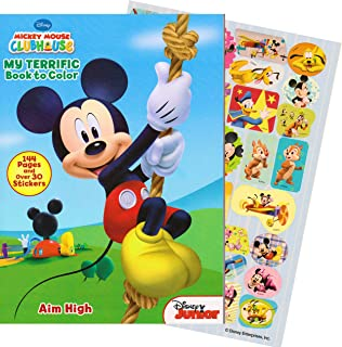 mickey mouse 144 page coloring and activity book with over 30 stickers - Mickey Mouse Colouring Games