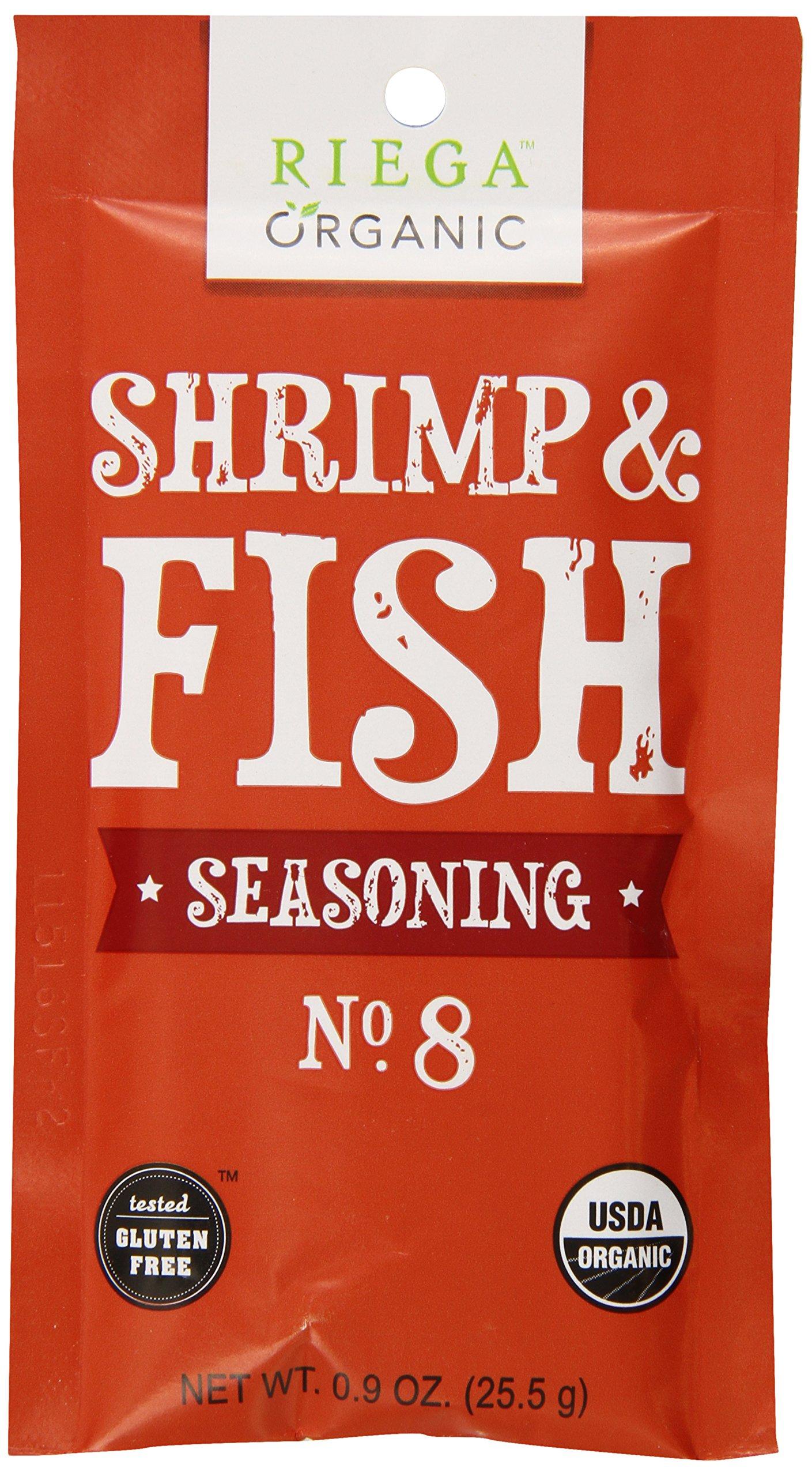 Riega Organic Shrimp and Fish Seasoning (Pack of 8) by Riega
