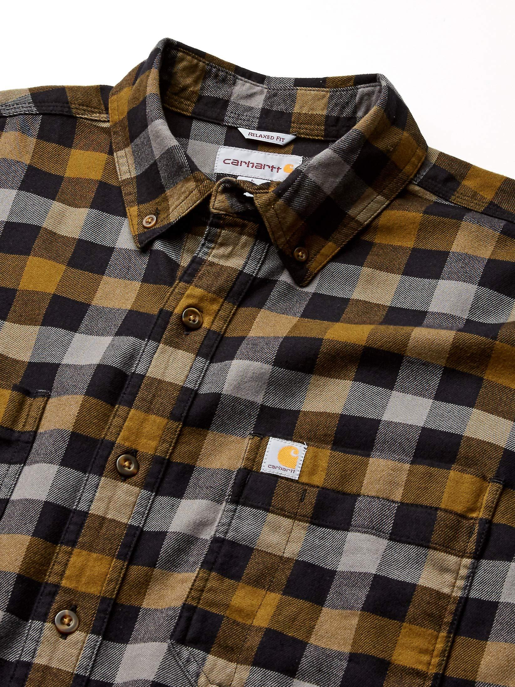 Black 001 Carhartt 103314C Rugged Flex Hamilton Plaid Flannel Shirt