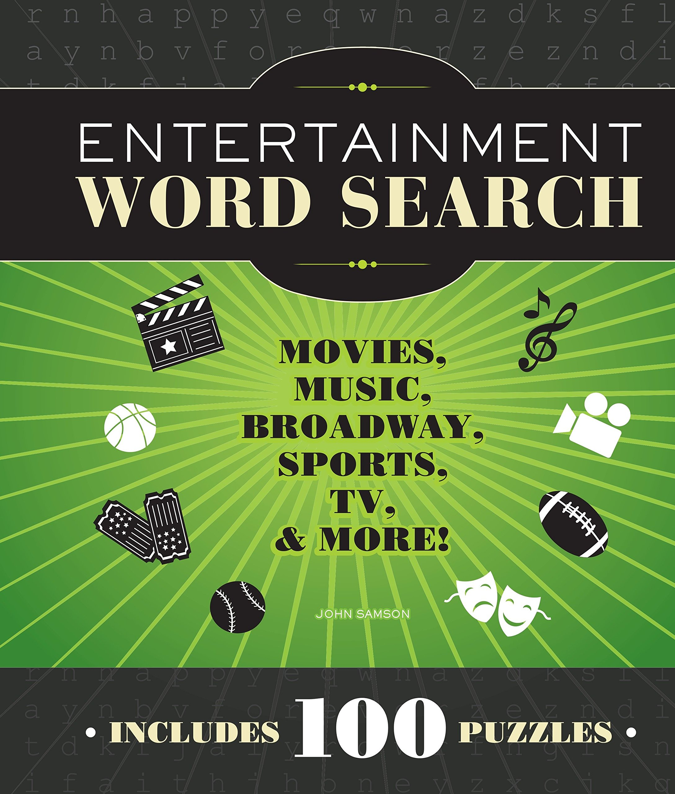 Entertainment Word Search: Movies, Music, Broadway, Sports, TV & More Spiral-bound – July 1, 2012