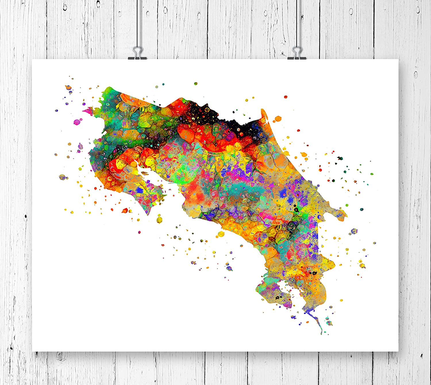 graphic about Printable Map of Costa Rica titled : Costa Rica Map Artwork Print, Poster, Wall Artwork