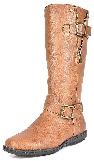 DREAM PAIRS Women's Wilder Camel Faxu Fur Knee High Winter Snow Boots Size  5 ...