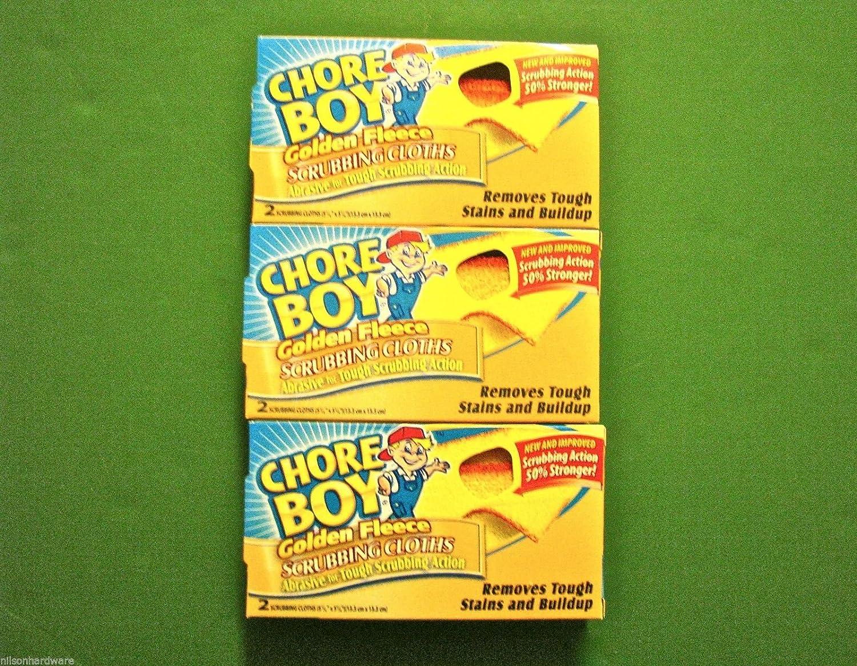 6 PC GoldenフリースChore 日本メーカー新品 爆買いセール Boyスクラブウール2クリーニング ボックス00217 B0130GICVE