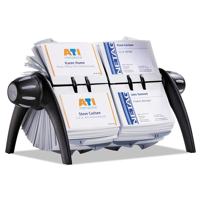 Durable 244301 Visitenkarten Drehkartei Visifix Flip Duo Für 600 Visitenkarten Schwarz