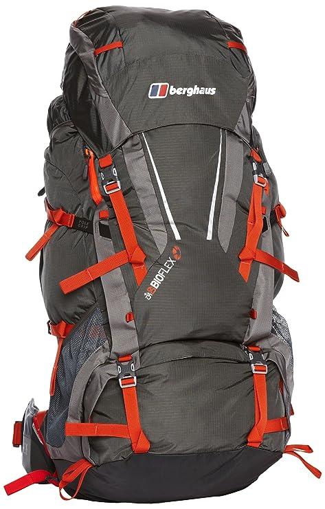 8209651bdd BERGHAUS Bioflex 60+15 Zaino, Grigio/Arancione: Amazon.it: Sport e ...