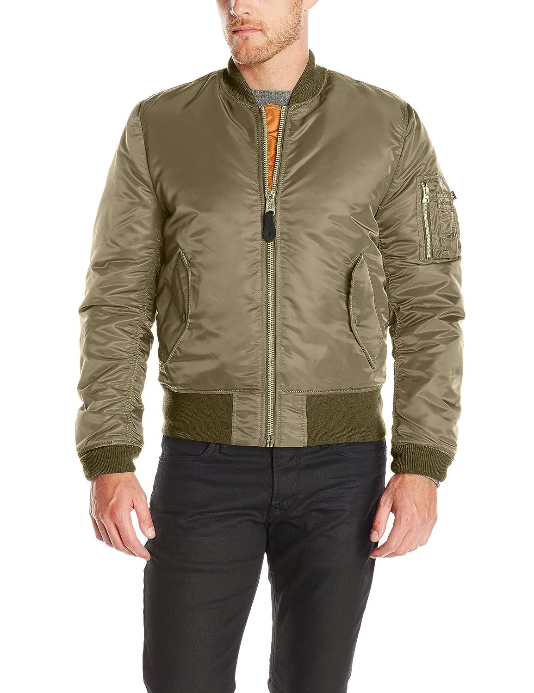 Alpha Industries Men's MA-1 Slim Fit Bomber Flight Jacket: Amazon ...