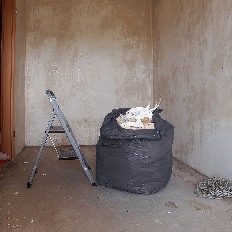 1000x1250 mm Tipo 100 extra LDPE Sacos de basura XXL bolsas de basura gran resistencia al desgarro negro 70 /μ rollo de 25 Hinrichs Bolsas de basura 240 L