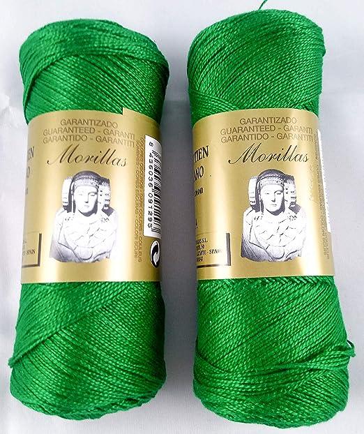 ▷ Pack de 2 Zepelines Ne 5/2 color verde 12 de algodón perlé 100 ...