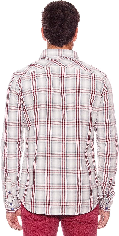 SIX VALVES Camisa Manga Larga Florida Gris/Granate XXXL: Amazon.es: Ropa y accesorios