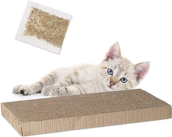 Relaxdays, Marrón, 4 x 45,5 x 23,5 cm rascador para Gatos de ...