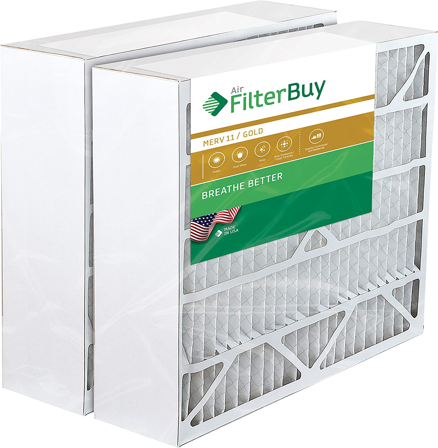 Filtration Manufacturing 02OS-16251 Charcoal Pleated Air Filter 16 W x 25 H x 1 D Lot of 12
