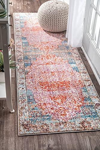nuLOOM Elmer Vintage Medallion Runner Rug, 2 6 x 8 , Orange