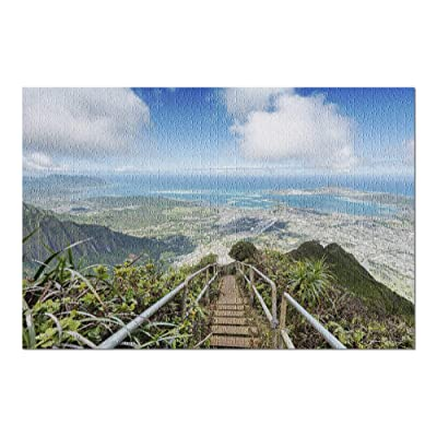 Oahu, Hawaii - Lush Mountain View from a Ridge Trail Overlooking Kaneohe 9031630 (Premium 1000 Piece Jigsaw Puzzle for Adults, 20x30, Made in USA!): Toys & Games