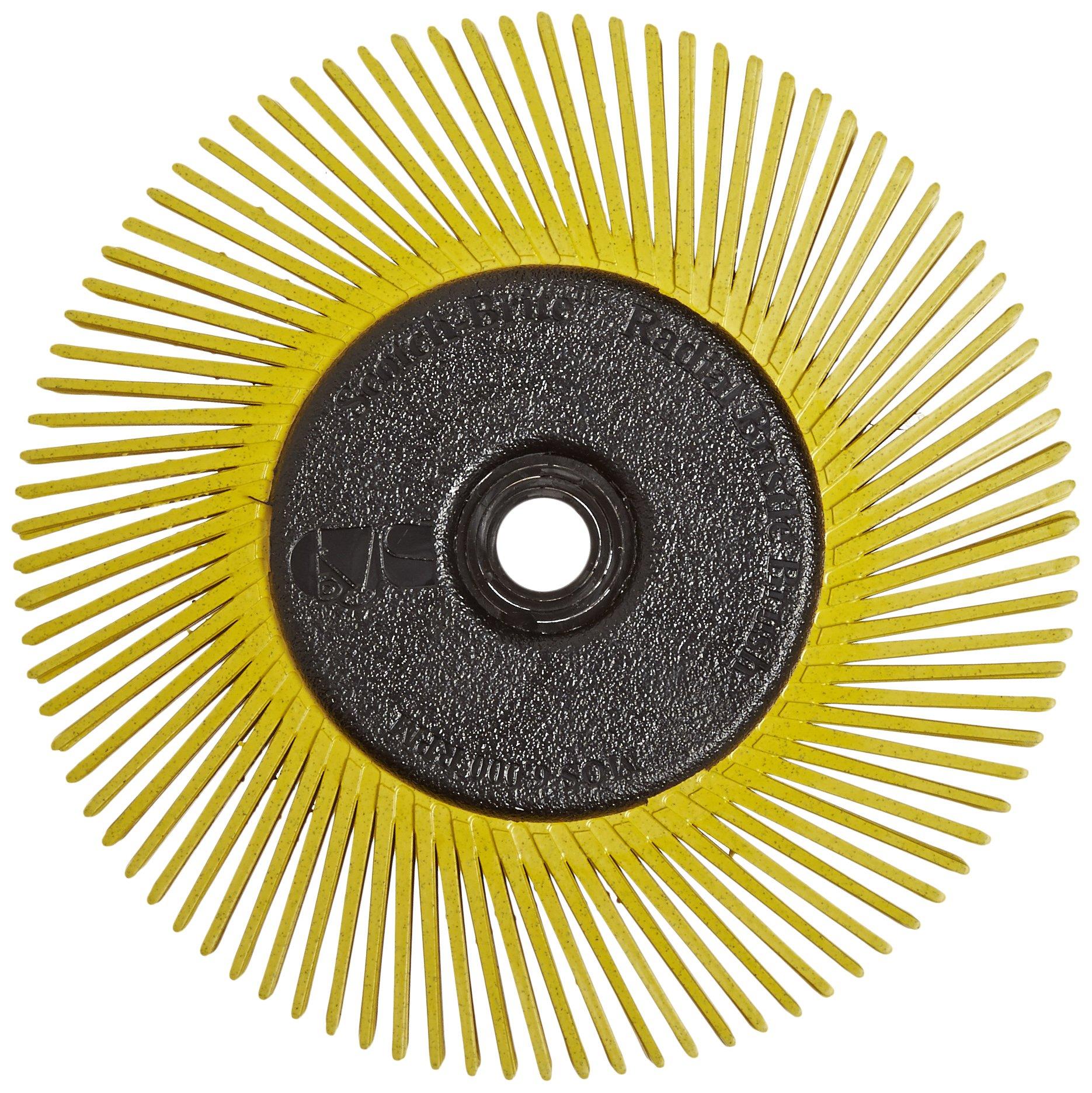 Scotch-Brite(TM) Radial Bristle Brush, Cubitron/Aluminum Oxide, 6000 rpm, 6 Diameter x 1/2 Width, 80 Grit (Pack of 1)