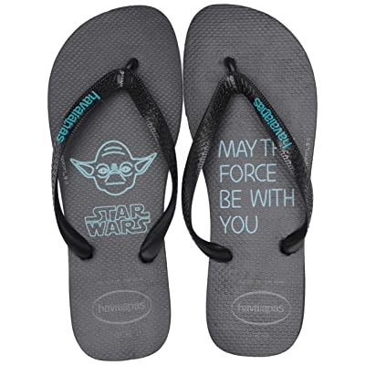 Amazon.com | Havaianas Women's Star Wars Flip Flop Sandal, Black/Blue, 12/13 M US | Flip-Flops
