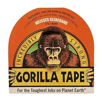 Gorilla Glue 3041601 Tape 30 Yds X 4, White, 27 M X 48 Mm