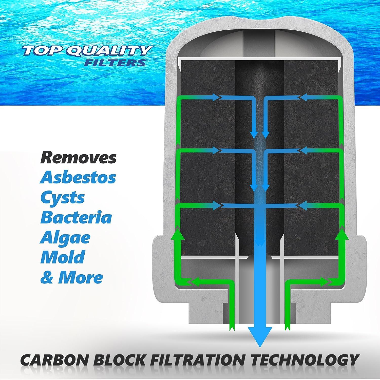 Best GE MWF Refrigerator Water Filter Smartwater Compatible Cartridge