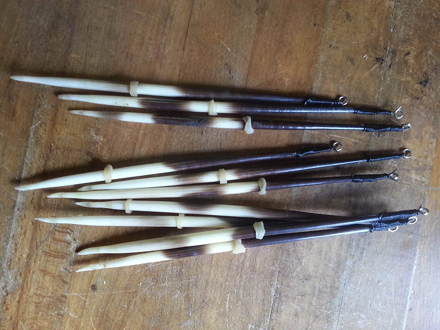 5 Porcupine Quill Fishing Floats, Real Porcupine Quills as pictured. Approximately 7 to 8 inch length.