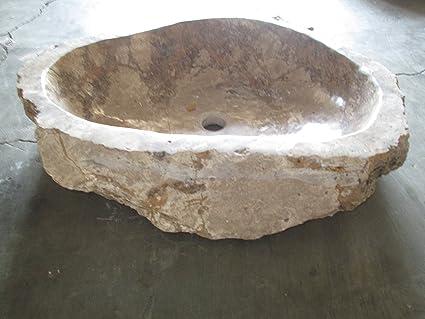 N303 60x50 15h Lavandino in pietra di marmo indonesiano per bagno ...