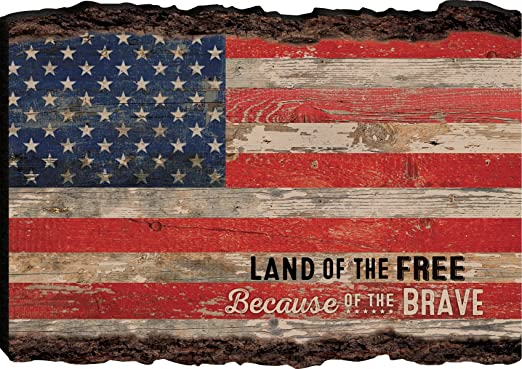 Amazon Com P Graham Dunn Patriotic American Flag Land Of The