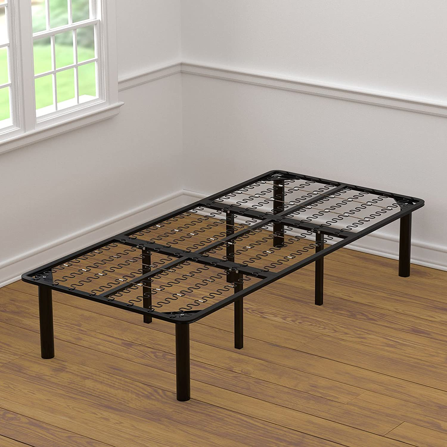 amazoncom handy living bed frame extra long twin kitchen dining - Xl Twin Frame